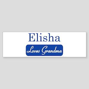 Elisha loves grandma Bumper Sticker