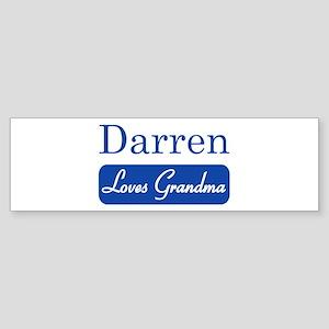 Darren loves grandma Bumper Sticker