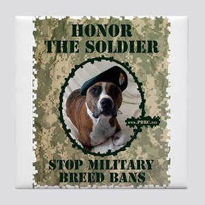 Honor the Soldier Tile Coaster