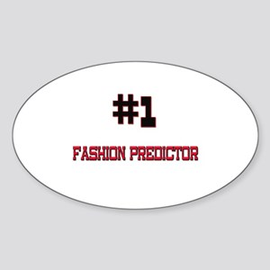 Number 1 FASHION PREDICTOR Oval Sticker