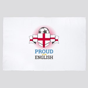 Football English England Soccer Team S 4' x 6' Rug