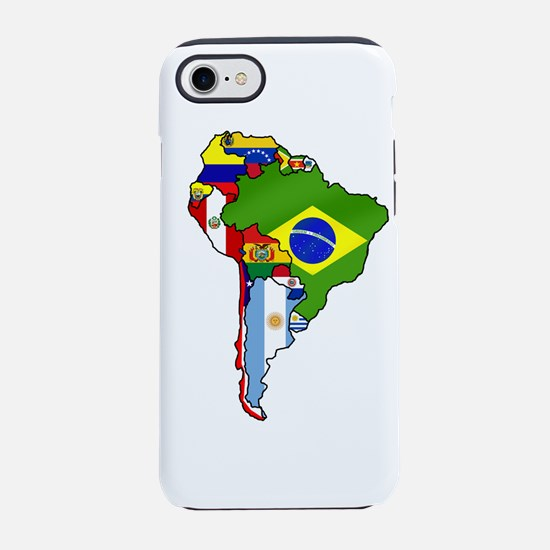 South America Flag Map iPhone 7 Tough Case