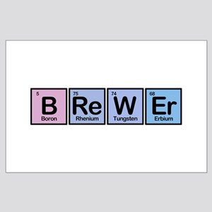 Brewer made of Elements Large Poster