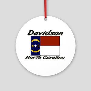 Davidson North Carolina Ornament (Round)