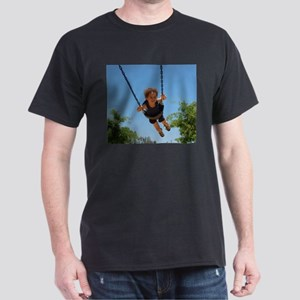 Happy child on t-shirt, coffe Dark T-Shirt