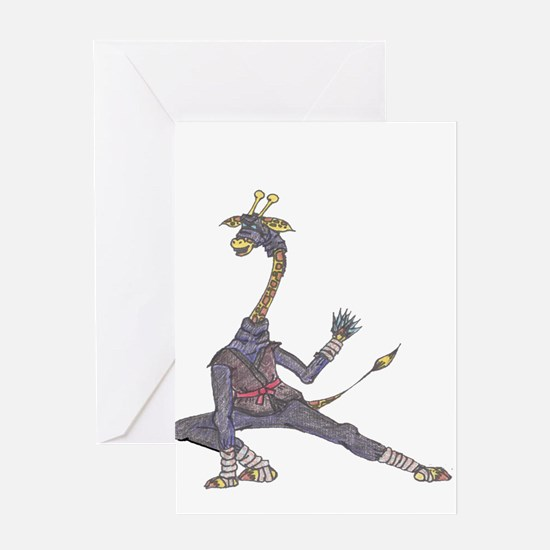 Unique Ninja Greeting Card