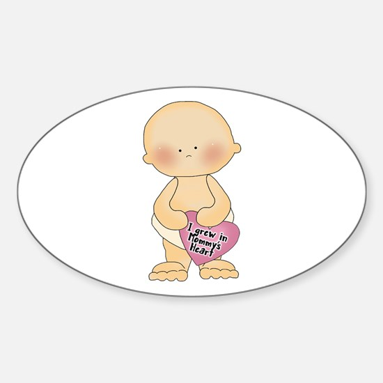 Adoption Heart Oval Decal