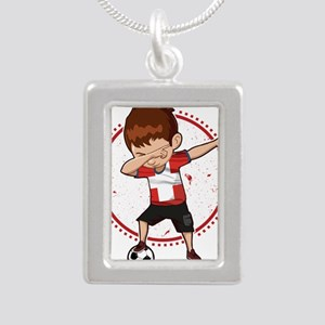 Football Dab Switzerland Swiss Footballe Necklaces