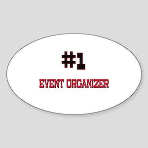 Number 1 EVENT ORGANIZER Oval Sticker