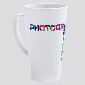 Photographer-Artist-Color 17 Oz Latte Mug