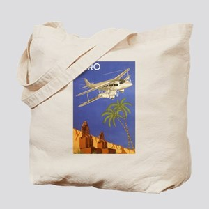 Vintage Travel Poster Cairo Egypt Tote Bag