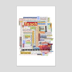 Teacher Mini Poster Print