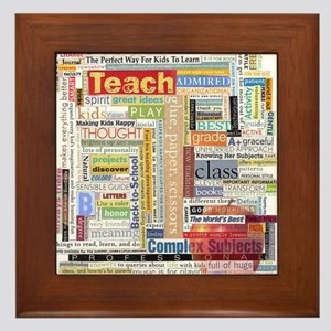 Teacher Framed Tile