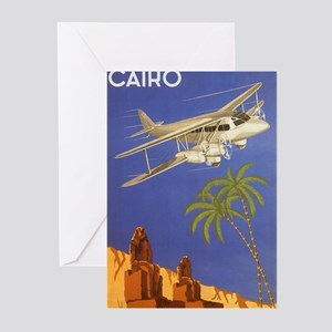 Vintage Travel Poster Cairo Egypt Greeting Cards (