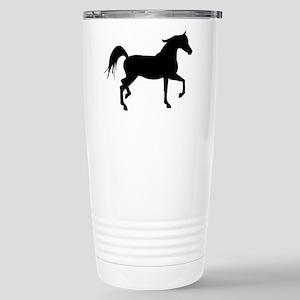 Arabian Horse Silhouette Stainless Steel Travel Mu