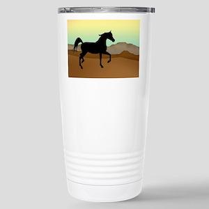 Desert Arabian Horse Stainless Steel Travel Mug