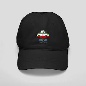 Football Iranian Iran Soccer Black Cap with Patch