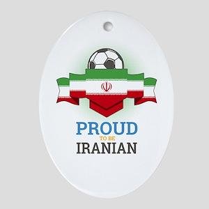 Football Iranian Iran Soccer Team Sp Oval Ornament
