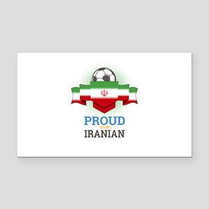 Football Iranian Iran Soccer Rectangle Car Magnet