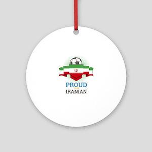 Football Iranian Iran Soccer Team S Round Ornament