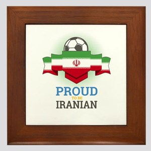 Football Iranian Iran Soccer Team Spor Framed Tile