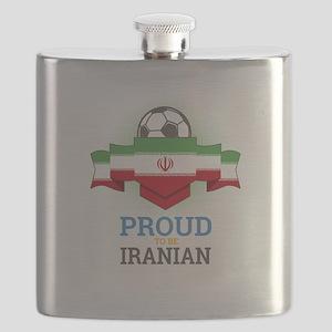 Football Iranian Iran Soccer Team Sports Foo Flask