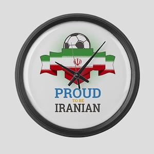 Football Iranian Iran Soccer Team Large Wall Clock