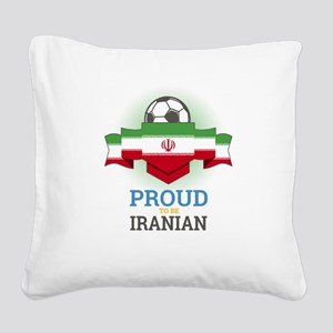 Football Iranian Iran Soccer Square Canvas Pillow