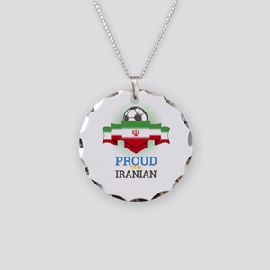 Football Iranian Iran Soccer Necklace Circle Charm