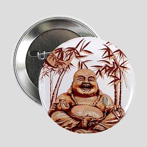 """Riyah-Li Designs Happy Buddha 2.25"""" Button"""