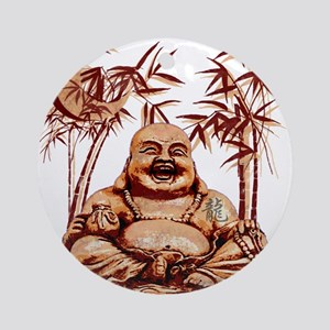 Riyah-Li Designs Happy Buddha Ornament (Round)