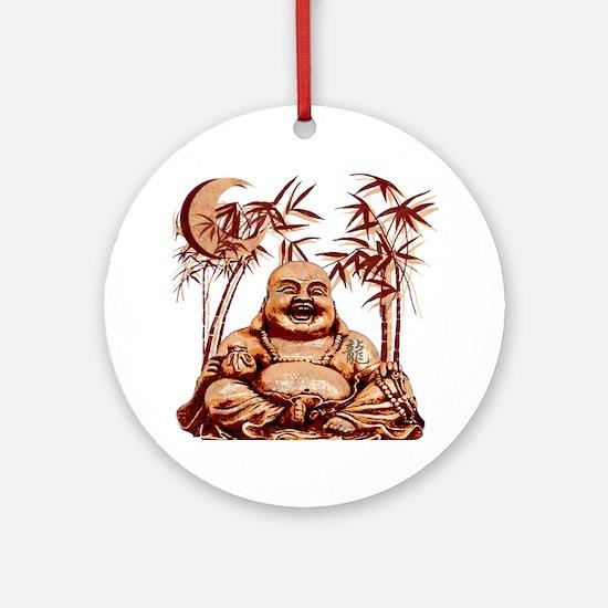 Riyah-Li Designs Happy Buddha Ornament (Round)