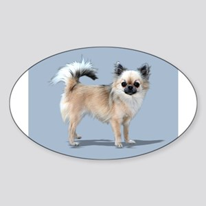 Longhaired Oval Sticker