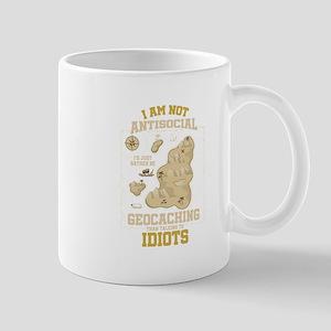 I Am Not Anti-Social Funny Geocaching Geocach Mugs