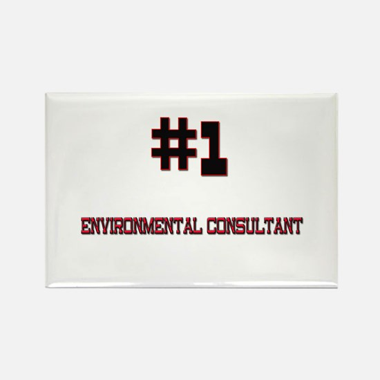 Number 1 ENVIRONMENTAL CONSULTANT Rectangle Magnet