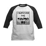 I Survived The Swine Flu Kids Baseball Jersey