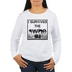 I Survived The Swine Flu Women's Long Sleeve T-Shi