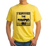 I Survived The Swine Flu Yellow T-Shirt