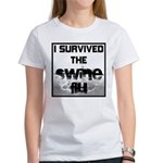 I Survived The Swine Flu Women's T-Shirt