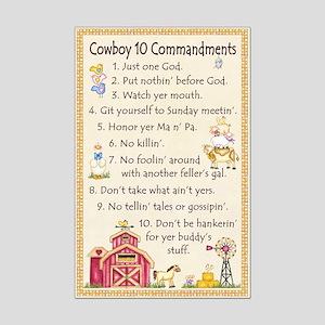 10 Commandments - Farm Mini Poster Print
