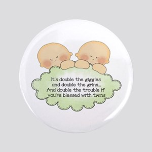 "Twin Giggles 3.5"" Button"