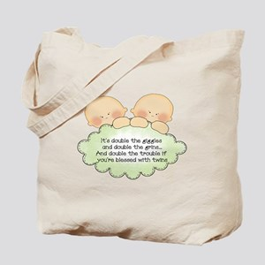 Twin Giggles Tote Bag