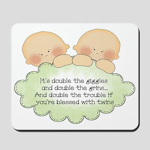 Twin Giggles Mousepad