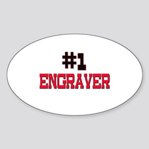 Number 1 ENGRAVER Oval Sticker