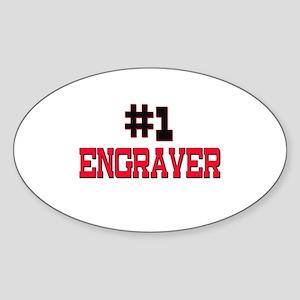 Number 1 ENGRAVER Oval Sticker