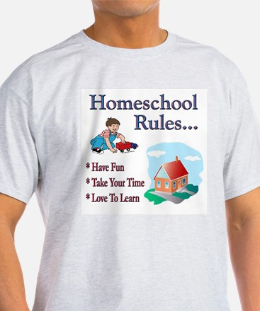 Fun Homeschool Rules T-Shirt