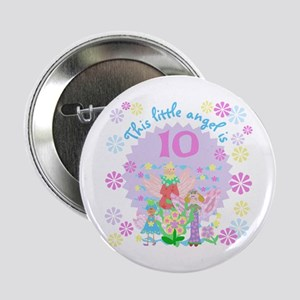 Angel 10th Birthday Button