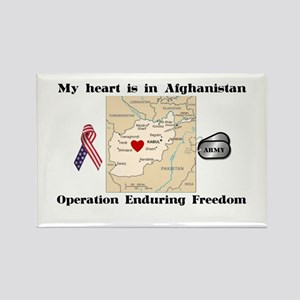 Heart in Afghanistan Rectangle Magnet