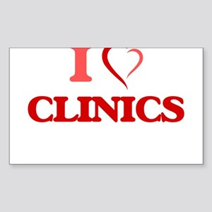 I love Clinics Sticker