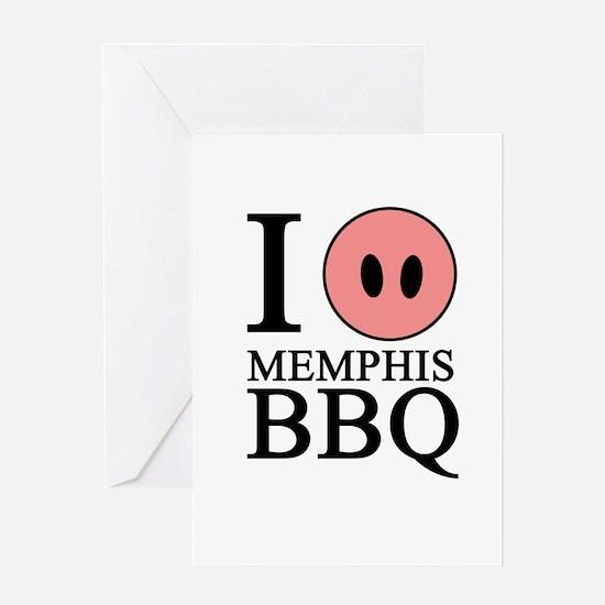 I Love Memphis BBQ Greeting Card